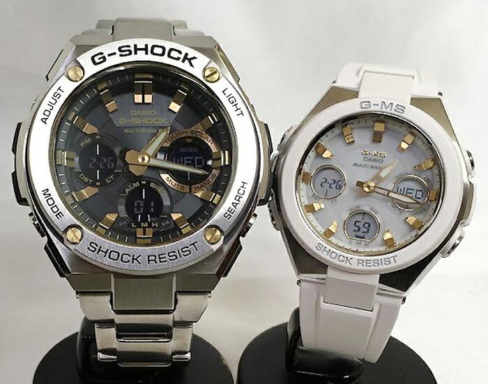 恋人たちのGショックペアウオッチ G-SHOCK BABY-G ペア腕時計 カシオ 2本セット gショック 電波ソーラー GST-W110D-1A9JF MSG-W100-7A2JF人気 ラッピング無料 手書きのメッセージカードお付けします クリスマスプレゼント