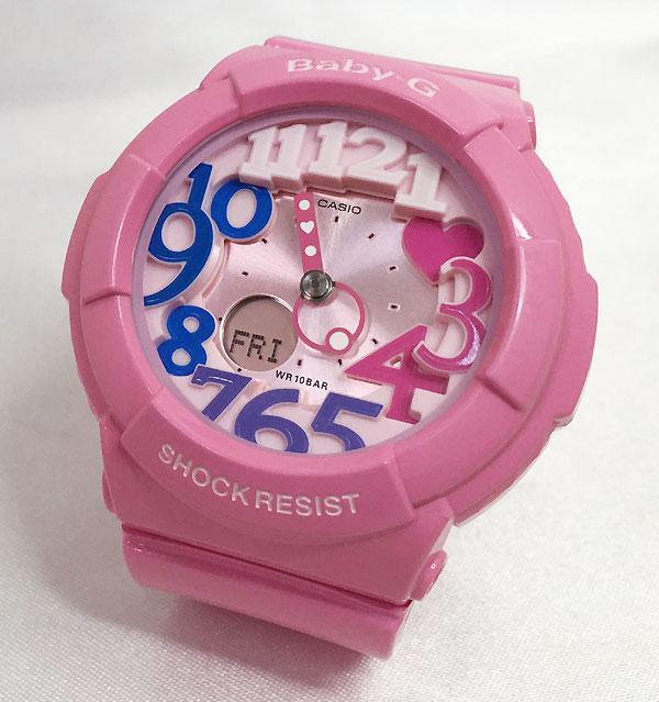 BABY-G カシオ ネオンイルミネータ ーBGA-131-4B3JF 可愛いサーモンピンクです プレゼント腕時計 ギフト 人気 ラッピング無料愛の証 感謝の気持ち baby-g 国内正規品 新品 メッセージカード手書きします あす楽対応