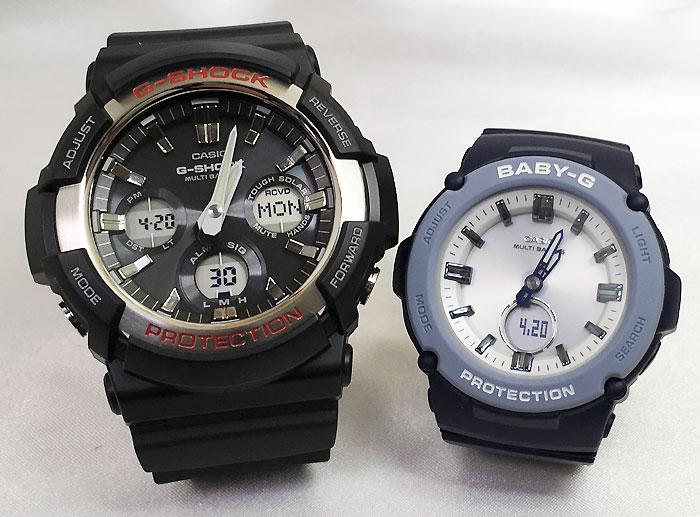 恋人たちのGショックペア G-SHOCK BABY-G ペアウォッチ ペア腕時計 カシオ 2本セット gショック 電波ソーラー GAW-100-1AJF BGA-2700-2AJF 人気 ラッピング無料 手書きのメッセージカードお付けします あす楽対応 クリスマス
