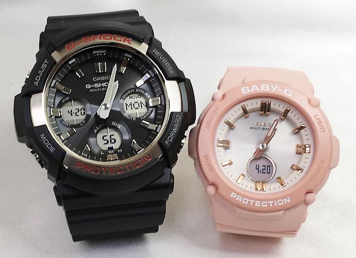 恋人たちのGショックペア G-SHOCK BABY-G ペアウォッチ ペア腕時計 カシオ 2本セット gショック 電波ソーラー GAW-100-1AJF BGA-2700-4AJF 人気 ラッピング無料 手書きのメッセージカードお付けします あす楽対応 クリスマス
