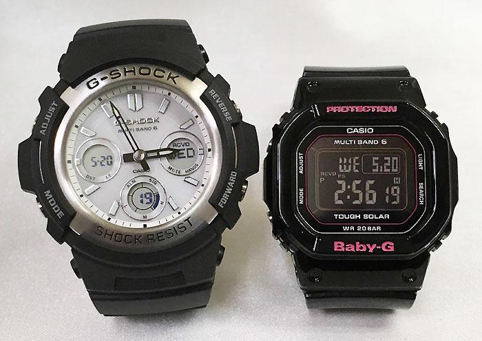 恋人達のGショック ペアウォッチ G-SHOCK BABY-G ペア腕時計 カシオ 2本セット gショック ベビーg デジタル アナデジ AWG-M100S-7AJF BGD-5000-1JF 人気 ラッピング無料 手書きのメッセージカードお付けします クリスマスプレゼント