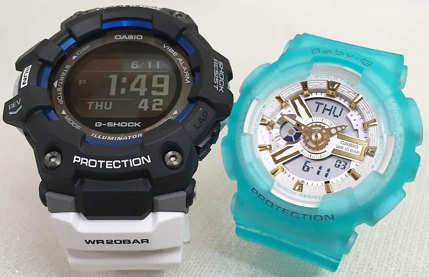 恋人たちのGショック G-SHOCK BABY-G ペアウォッチ ペア腕時計 カシオ 2本セット gショック ベビーg アナデジ GBD-100-1A7JF BA-110SC-2AJFプレゼント ギフト Xmas 人気 クリスマス ラッピング無料 手書きのメッセージカードお付けします
