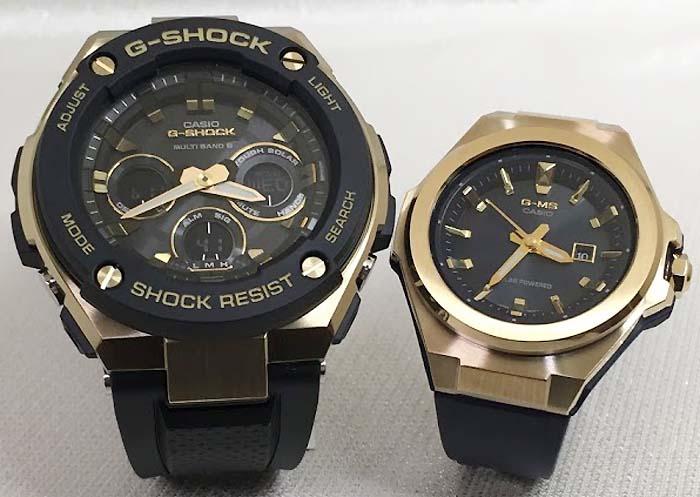 恋人たちのGショックペアウォッチ G-SHOCK BABY-G ペア腕時計 カシオ 2本セット ペアウオッチ gショック 電波ソーラー GST-W300G-1A9JF MSG-S500G-2AJF 人気 ラッピング無料 手書きのメッセージカードお付けします クリスマスプレゼント