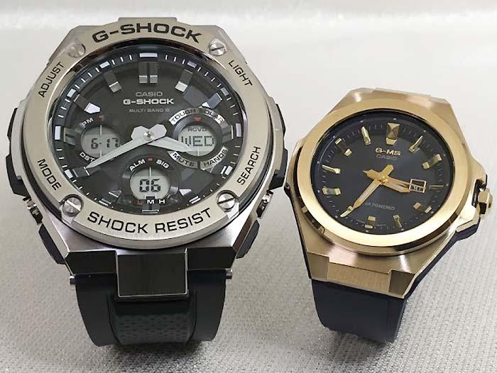 恋人達のGショック ペアウォッチ G-SHOCK BABY-G ペア腕時計 カシオ 2本セット gショック ベビーg デジタル アナデジ GST-W110-1AJF MSG-S500G-2AJF 人気 ラッピング無料  クリスマスプレゼント