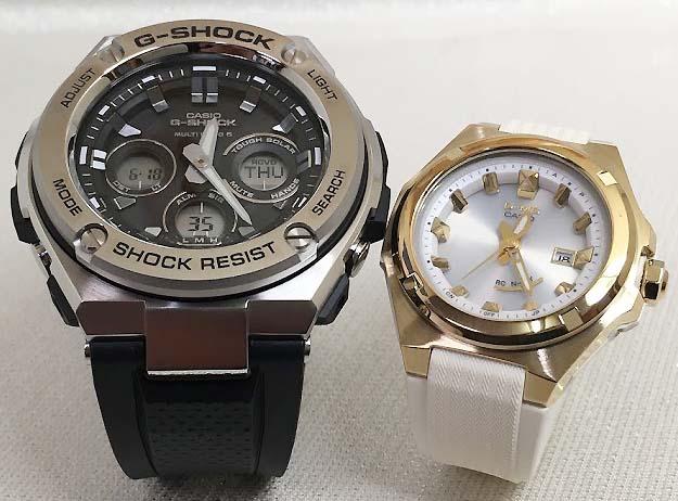 恋人達のGショック ペアウォッチ G-SHOCK BABY-G ペア腕時計 カシオ 2本セット gショック ベビーg デジタル アナデジ GST-W310-1AJF MSG-W300G-7AJF 人気 ラッピング無料 あす楽対応 クリスマスプレゼント