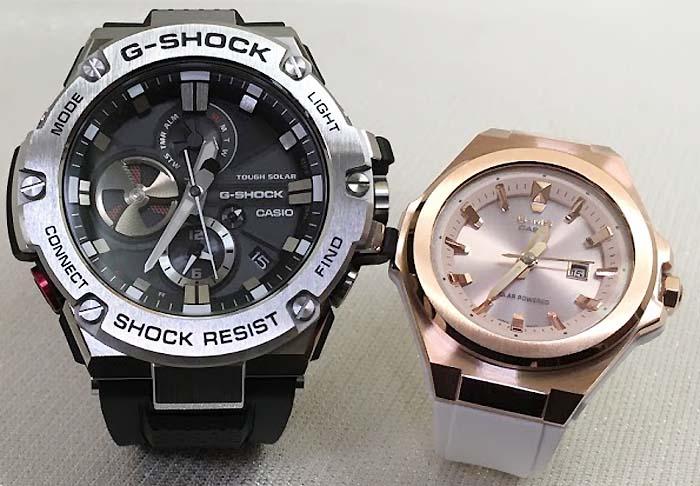 恋人たちのGショックペアウォッチ G-SHOCK BABY-G ペア腕時計 カシオ 2本セット ペアウオッチ gショック GST-B100-1AJF MSG-S500G-7A2JF 人気 ラッピング無料 手書きのメッセージカードお付けします クリスマスプレゼント