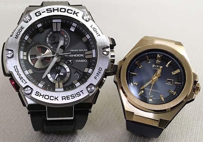 恋人たちのGショックペアウォッチ G-SHOCK BABY-G ペア腕時計 カシオ 2本セット ペアウオッチ gショック GST-B100-1AJF MSG-S500G-2AJF 人気 ラッピング無料 手書きのメッセージカードお付けします クリスマスプレゼント