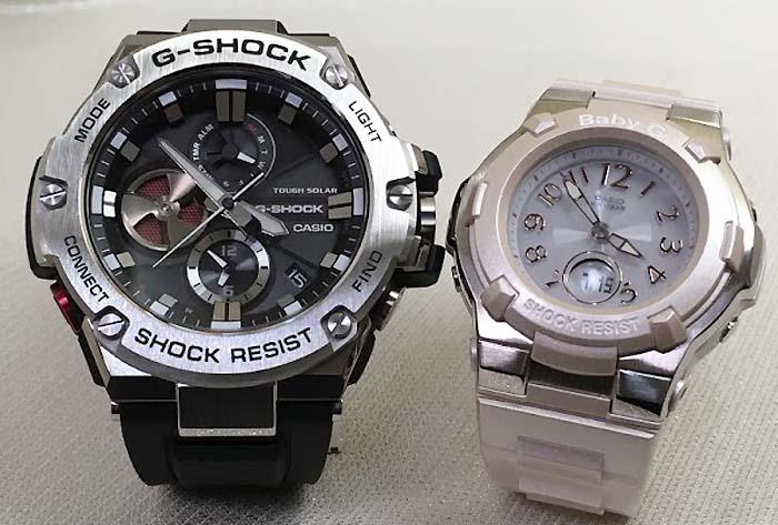 恋人達のGショック ペアウォッチ G-SHOCK BABY-G ペア腕時計 カシオ 2本セット gショック ベビーg デジタル アナデジ GST-B100-1AJF BGA-1100-4BJF 人気 ラッピング無料  クリスマスプレゼント
