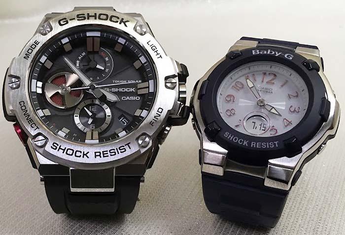 恋人達のGショック ペアウォッチ G-SHOCK BABY-G ペア腕時計 カシオ 2本セット gショック ベビーg デジタル アナデジ GST-B100-1AJF BGA-1100-2BJF 人気 ラッピング無料  クリスマスプレゼント