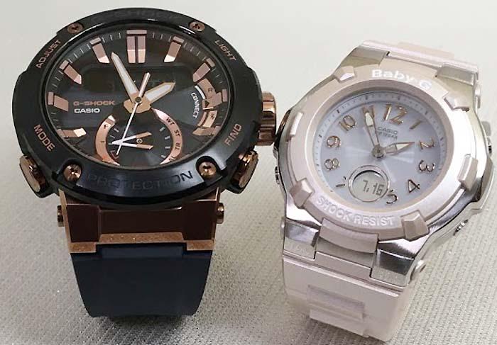 恋人達のGショック ペアウォッチ G-SHOCK BABY-G ペア腕時計 カシオ 2本セット gショック ベビーg デジタル アナデジ GST-B200G-2AJF BGA-1100-4BJF 人気 ラッピング無料  クリスマスプレゼント