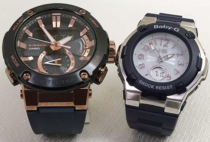 恋人達のGショック ペアウォッチ G-SHOCK BABY-G ペア腕時計 カシオ 2本セット gショック ベビーg デジタル アナデジ GST-B200G-2AJF BGA-1100-2BJF 人気 ラッピング無料  クリスマスプレゼント