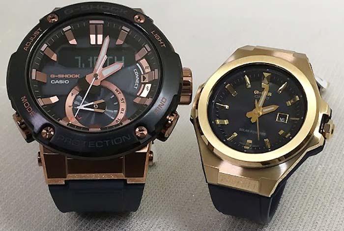 恋人たちのGショックペアウォッチ G-SHOCK BABY-G ペア腕時計 カシオ 2本セット ペアウオッチ gショック GST-B200G-2AJF MSG-S500G-2AJF 人気 ラッピング無料 手書きのメッセージカードお付けします クリスマスプレゼント