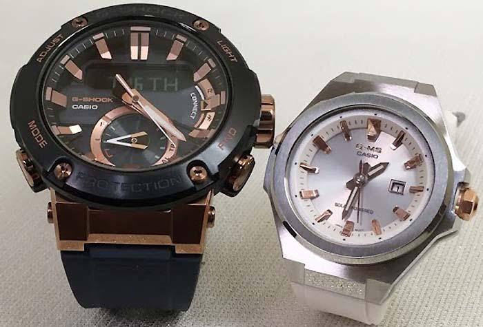 恋人達のGショック ペアウォッチ G-SHOCK BABY-G ペア腕時計 カシオ 2本セット gショック ベビーg デジタル アナデジGST-B200G-2AJF MSG-S500-7AJF 人気 ラッピング無料  クリスマスプレゼントありがとう好きだよ