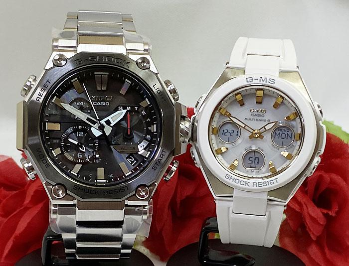 恋人たちのGショックペア G-SHOCK BABY-G ペアウォッチ ペア腕時計 カシオ 2本セット gショック 電波ソーラー MTG-B2000D-1AJF MSG-W100-7A2JF 人気 ラッピング無料 クリスマスプレゼント