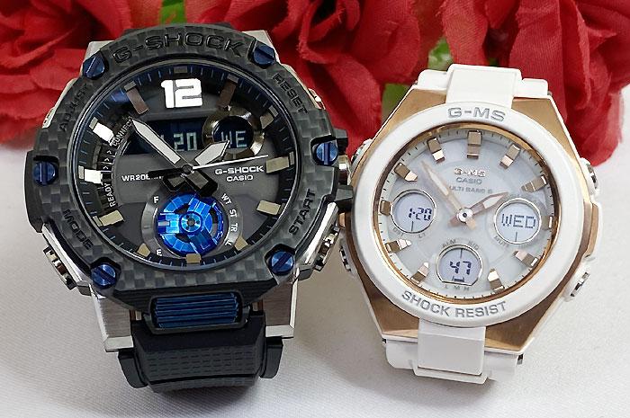 恋人たちのGショックペアウオッチ G-SHOCK BABY-G ペア腕時計 カシオ 2本セット gショック 電波ソーラー GST-B300XA-1AJF MSG-W100G-7AJF 人気 ラッピング無料 手書きのメッセージカードお付けします あす楽対応 クリスマスプレゼント