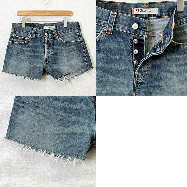 USED リメイクヴィンテージデニムショートパンツ Levis jeans for shoppers to remake / denim / jeans / shorts
