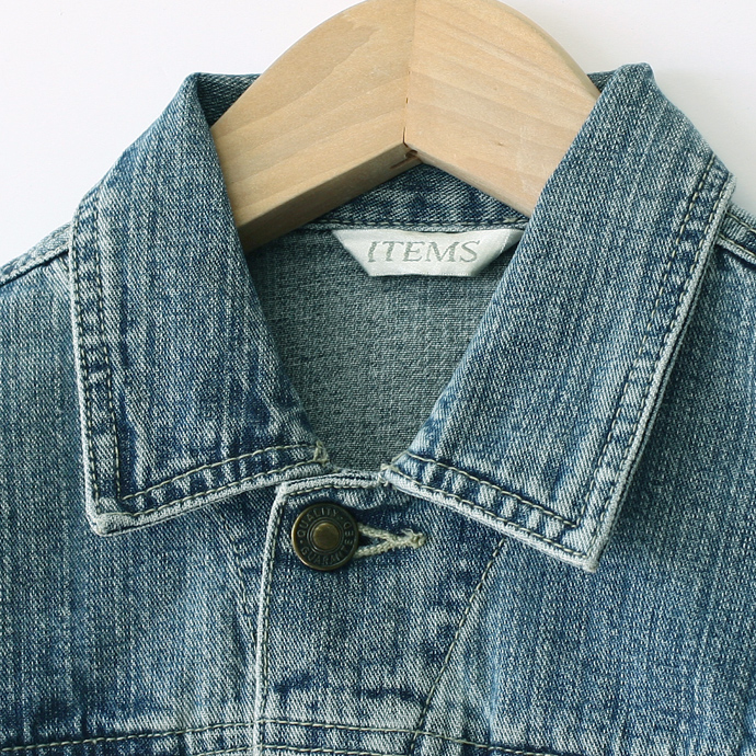 USED リメイクデニム short jackets clothing brand denim jacket in short-length remake G ladies ' kids ' and junior 7, Jean, odd-length / sleeves