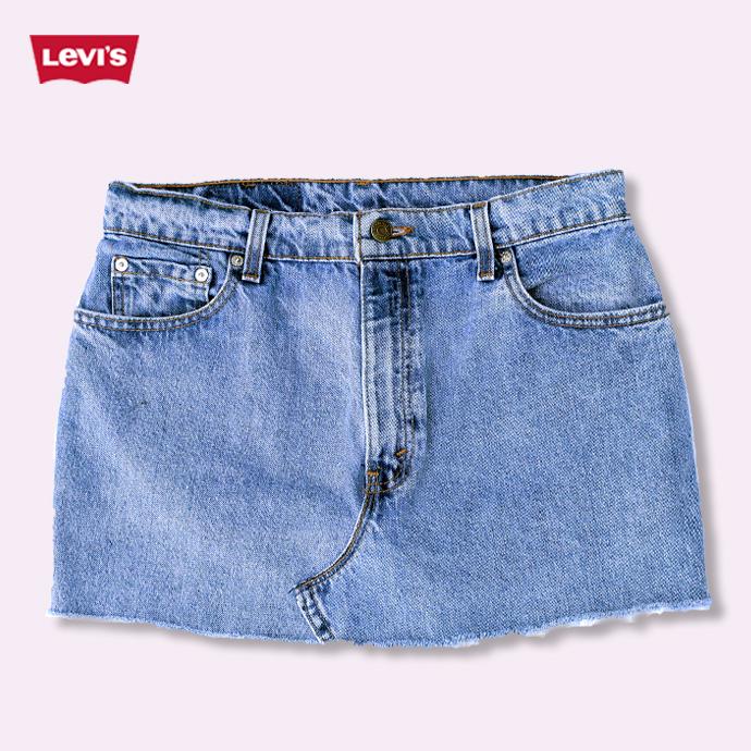 4302d91d65 Kobe Patina: One vintage denim mini skirt Womens UKR062 Levi Lee Wrangler    Rakuten Global Market