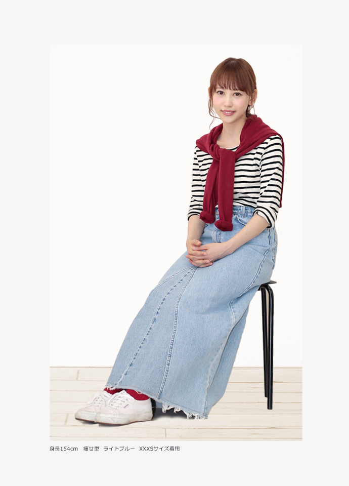 长裙喇叭形裙子粗斜纹布总长91-98cm再作复古女士UKR056