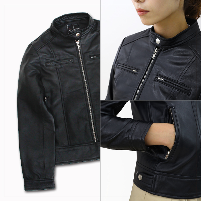 RAM leather single riders jacket and Brown ladies / leather, leather jackets, leather Jean / men's