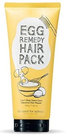 トゥークールフォ―スクール 新作多数 エッグレミディヘアパック 200ml too cool for Hair Pack Remedy Egg 200ML school お気に入