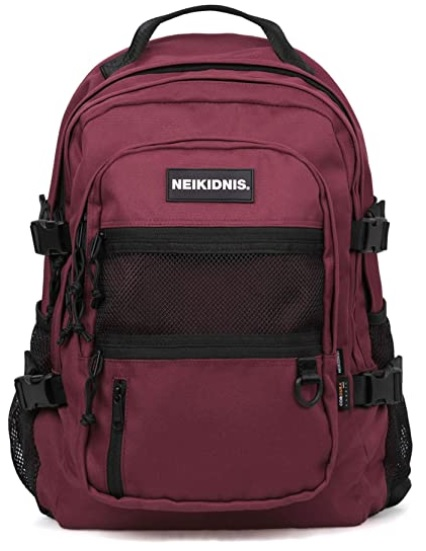 代引き不可 NEIKIDNIS ABSOLUTE BACKPACK 公式 BURGUNDY リュックバッグバックパック大容量旅行通学遠足ユニセックスバッグ多機能バッグ 037ASB762 海外直送品