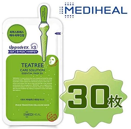 正規輸入品 Mediheal 格安 価格でご提供いたします マーケティング メディヒール マスクパック10枚入り3箱 ティーツリーケアソリューション エッセンシャル