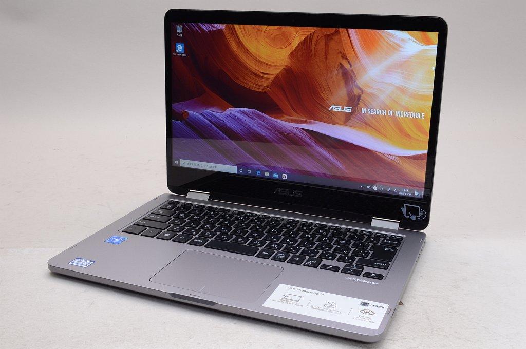 【中古】ASUS VivoBook Flip 14 TP401NA TP401NA-BZ001T ライトグレー