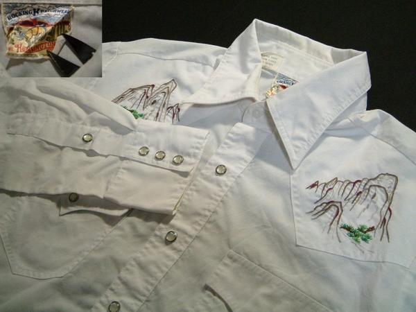 rls250 M 70'sKENNINGTON長袖刺繍ウエスタンシャツUS古着 【中古】