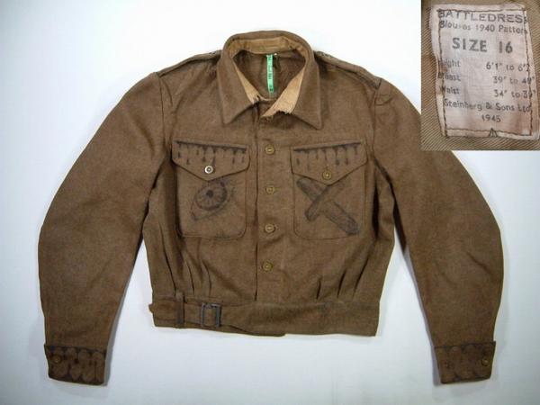 ljk209 M 1945年製実物ウールアイクジャケットUS古着ミリタリー 【中古】