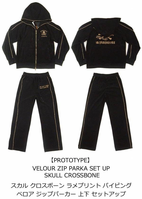 iy031 品牌新原型头骨 crossbone 打印下来集的男装骷髅安装 Belo Jorge 一管道丝绒拉链大衣