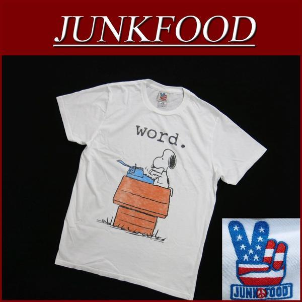 ay641新货JUNK FOOD USA产SNOOPY WORD史努比短袖T恤人花生劣质食品糖果委员会衬衫JunkFood Made in USA