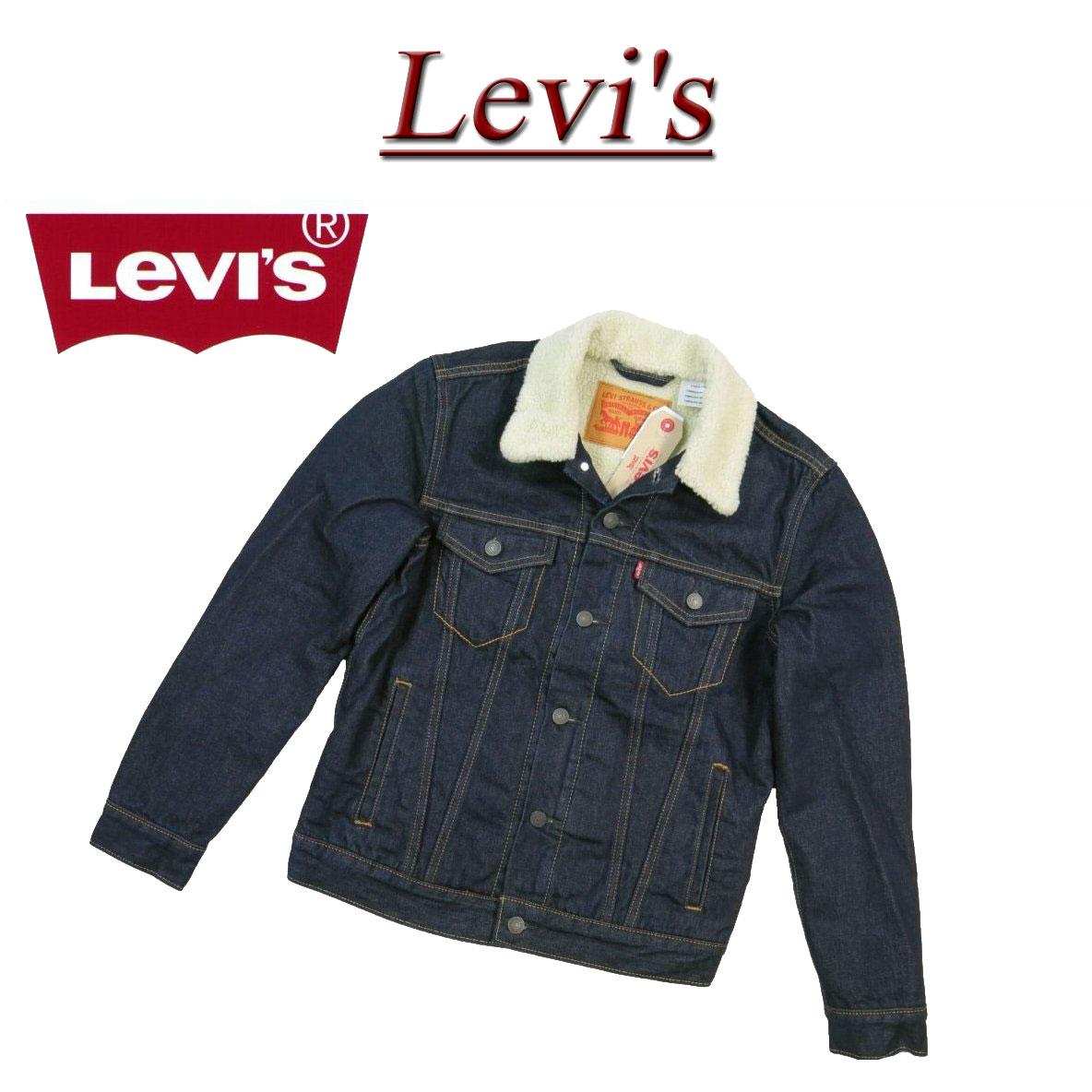 Af251 New Article Levis Us Line Third Type Back Pile Boa Denim Jacket G Jean Men Levis Sherpa Trucker 3rd Type Denim Jacket Regular Fit 70598 0027