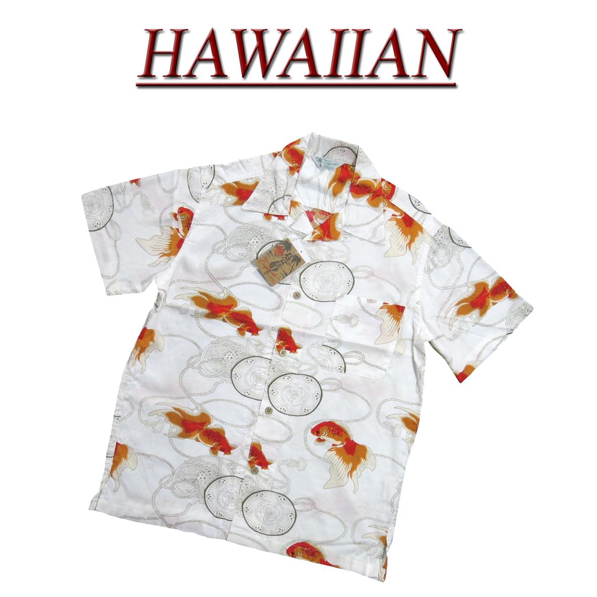 wu2310 品牌新金鱼鼓短袖人造丝 100%日本夏威夷衬衫男士 Aloha 夏威夷衬衫 (那里大尺码!)