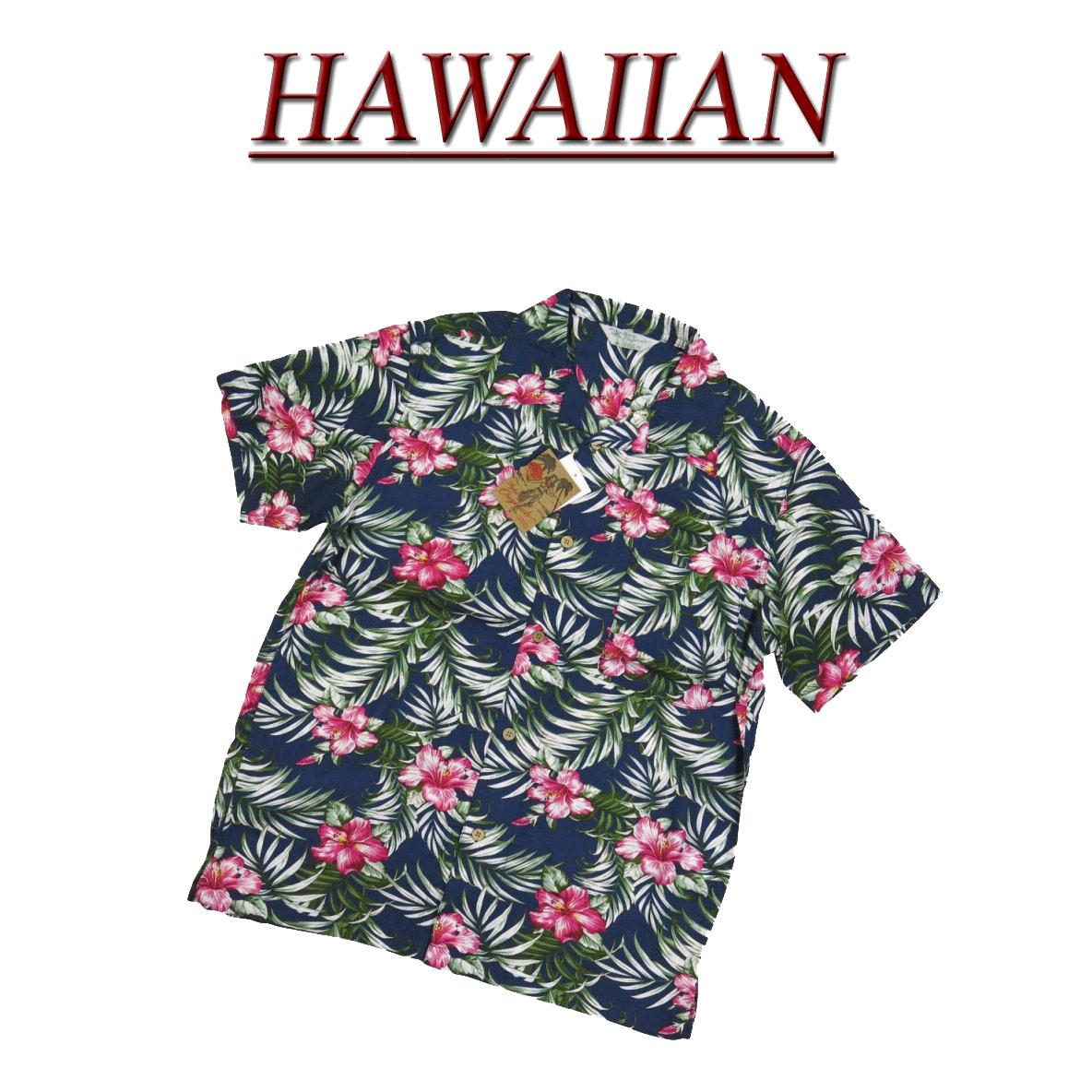 【7サイズ】 wu449 新品 ハイビスカス 花柄 半袖 レーヨン100% アロハシャツ メンズ アロハ ハワイアンシャツ 【smtb-kd】 (ビッグサイズあります!)