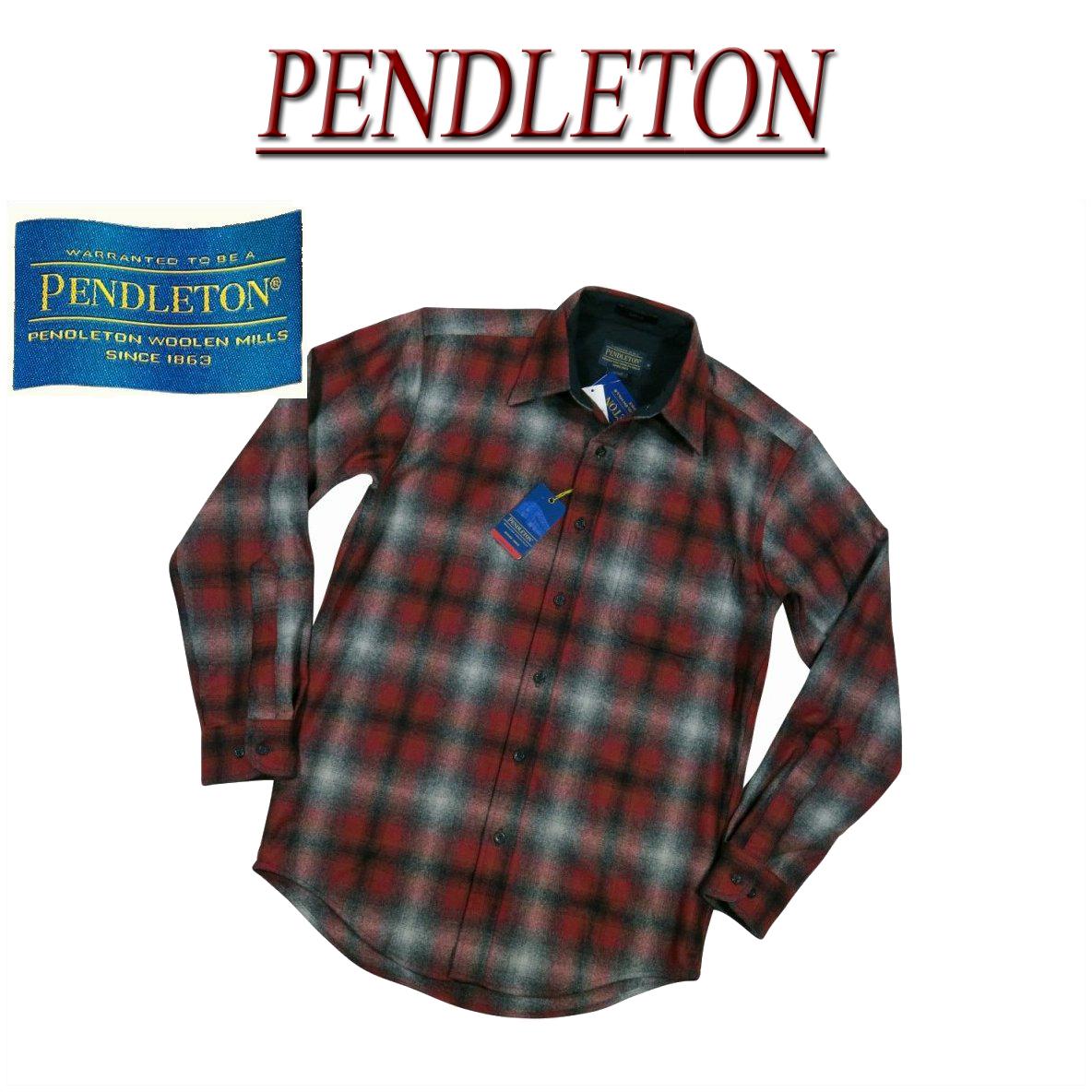 【5サイズ】 ac221 新品 PENDLETON LODGE SHIRT FITTED オンブレチェック 長袖 ウールシャツ AA031-31948 メンズ ペンドルトン チェックシャツ ペンデルトン ロッジシャツアメカジ 【smtb-kd】