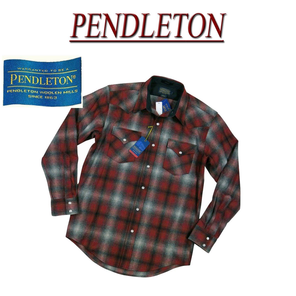【5サイズ】 ac231 新品 PENDLETON CANYON SHIRT FITTED オンブレチェック 長袖 ウール ウエスタンシャツ DA023-31948 メンズ ペンドルトン チェックシャツ ペンデルトン ウールシャツ アメカジ 【smtb-kd】