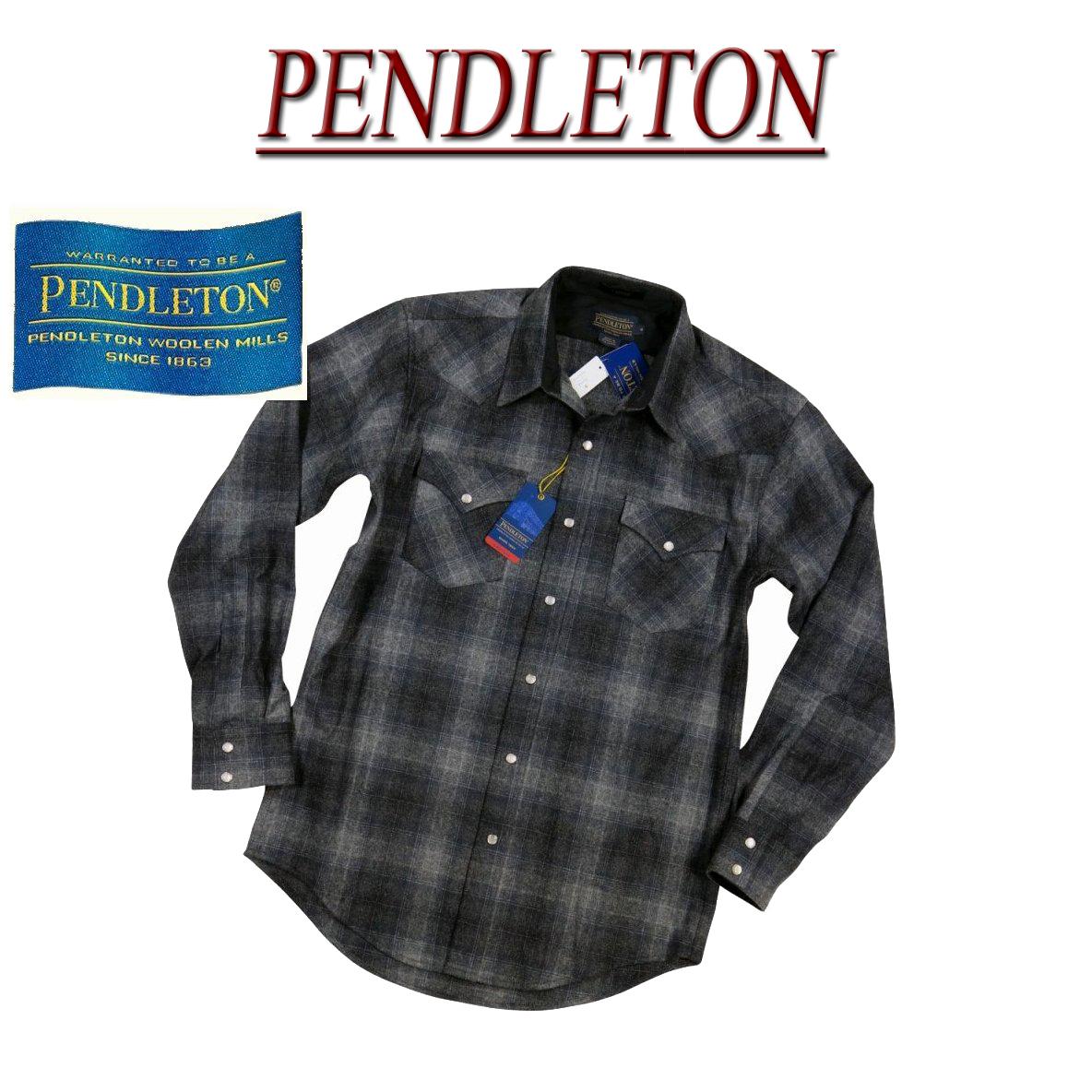 【5サイズ】 ac232 新品 PENDLETON CANYON SHIRT FITTED オンブレチェック 長袖 ウール ウエスタンシャツ DA023-31962 メンズ ペンドルトン チェックシャツ ペンデルトン ウールシャツ アメカジ 【smtb-kd】