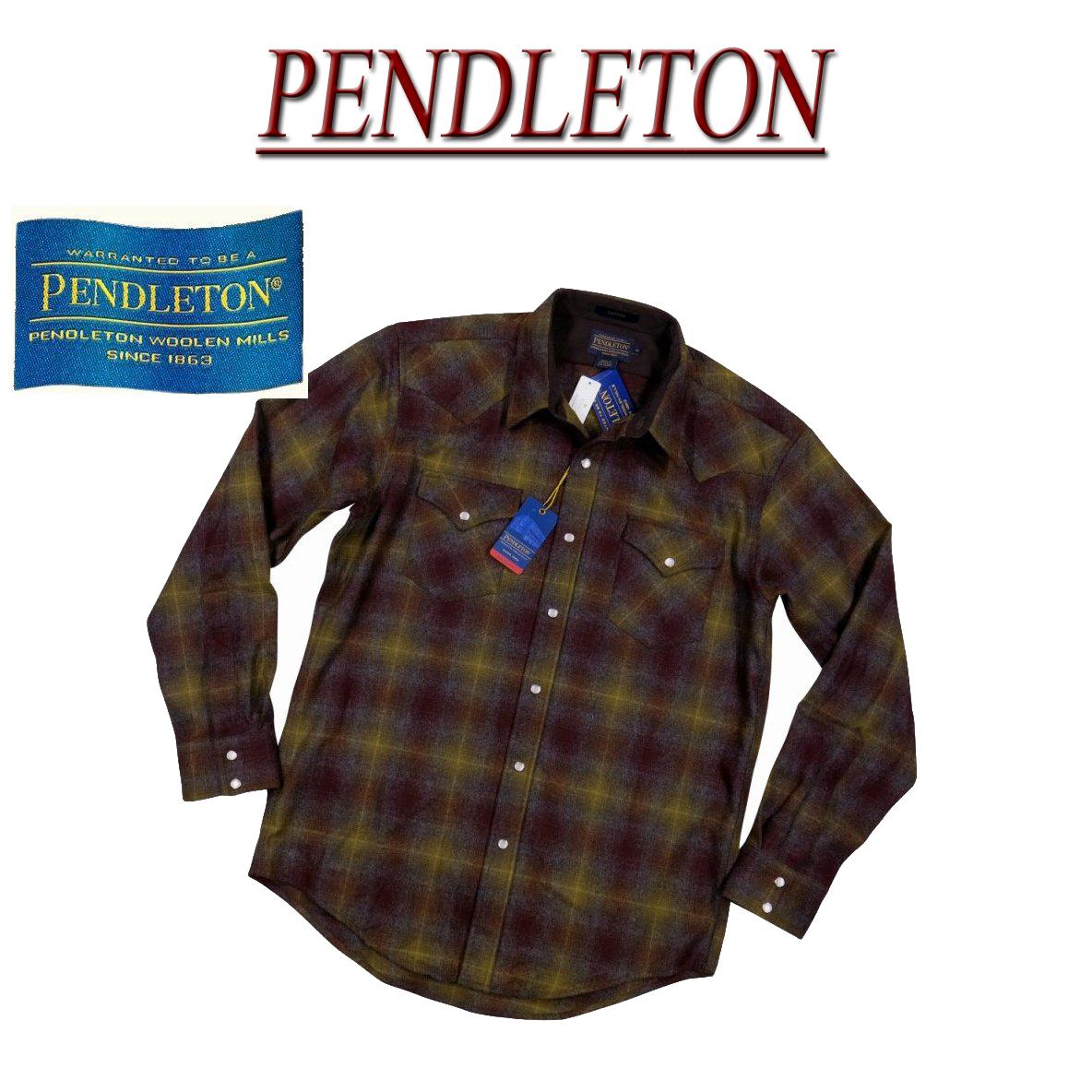【5サイズ】 ac233 新品 PENDLETON CANYON SHIRT FITTED オンブレチェック 長袖 ウール ウエスタンシャツ DA023-31960 メンズ ペンドルトン チェックシャツ ペンデルトン ウールシャツ アメカジ 【smtb-kd】