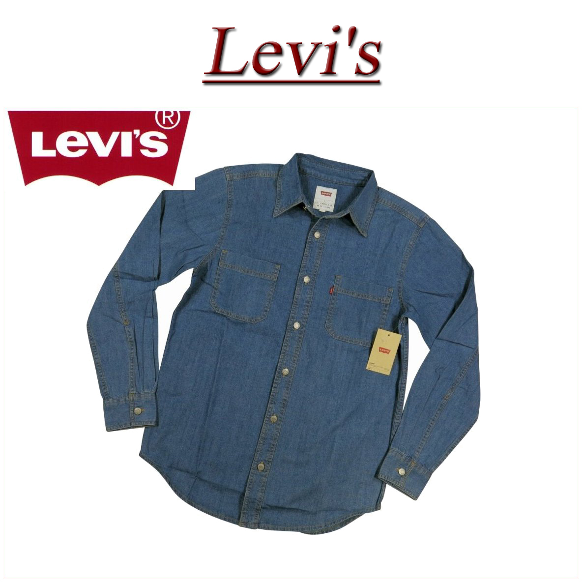 fcad7cbd16 af081 brand new Levis denim shirt mens US line Levi s CLASSIC DENIM  WORKSHIRT AUTHENTIC STONEWASH Long Sleeve Denim workshirt Levi s