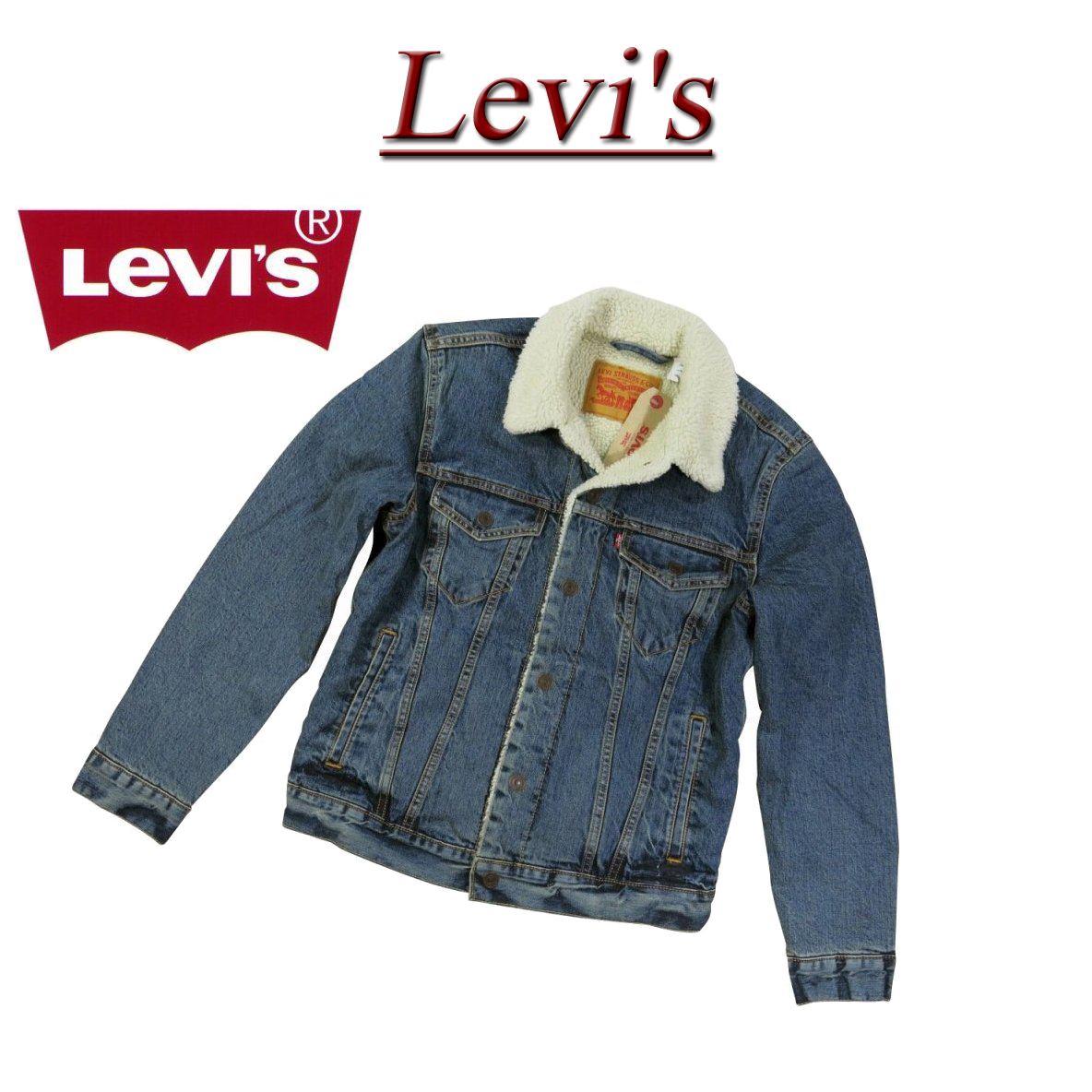 4f88f99c1648 The new article-free  Levis  third type back pile boa denim jacket G Jean  US line