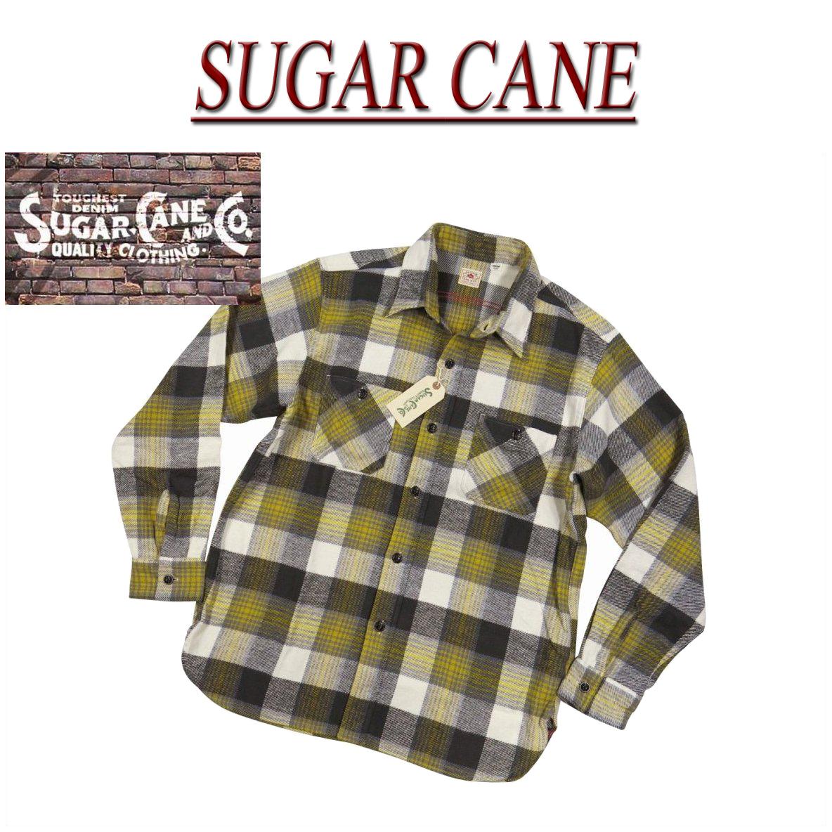 【4サイズ】 nz471 新品 SUGAR CANE 日本製 マチ付 チェック 長袖 ヘビーネルシャツ SC27386 メンズ シュガーケーン TWILL CHECK L/S WORK SHIRT ツイル ワークシャツ Made in JAPAN 【smtb-kd】