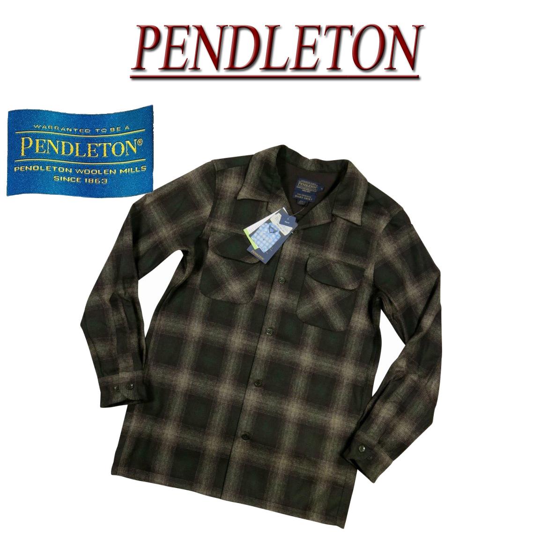 【2018秋冬 5サイズ】 ac562 新品 PENDLETON BOARD SHIRT FITTED オンブレチェック 長袖 オープンカラー ウールシャツ RA072-32114 メンズ ペンドルトン チェックシャツ ペンデルトン ボードシャツ 【smtb-kd】
