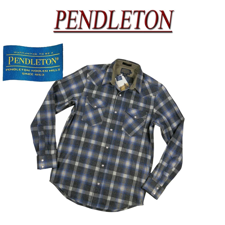 【2018秋冬 5サイズ】 ac571 新品 PENDLETON CANYON SHIRT FITTED チェック 長袖 ウール ウエスタンシャツ DA499-32108 メンズ ペンドルトン チェックシャツ ペンデルトン ウールシャツ アメカジ 【smtb-kd】