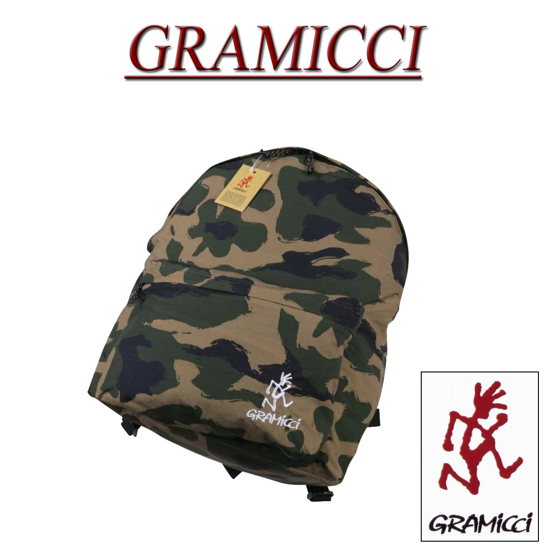 gm492 新品 GRAMICCI ランニングマン ロゴ刺繍 カモフラージュ デイパック GRB-0019 グラミチ DAYPACK リュック 迷彩柄 バックパック バッグ