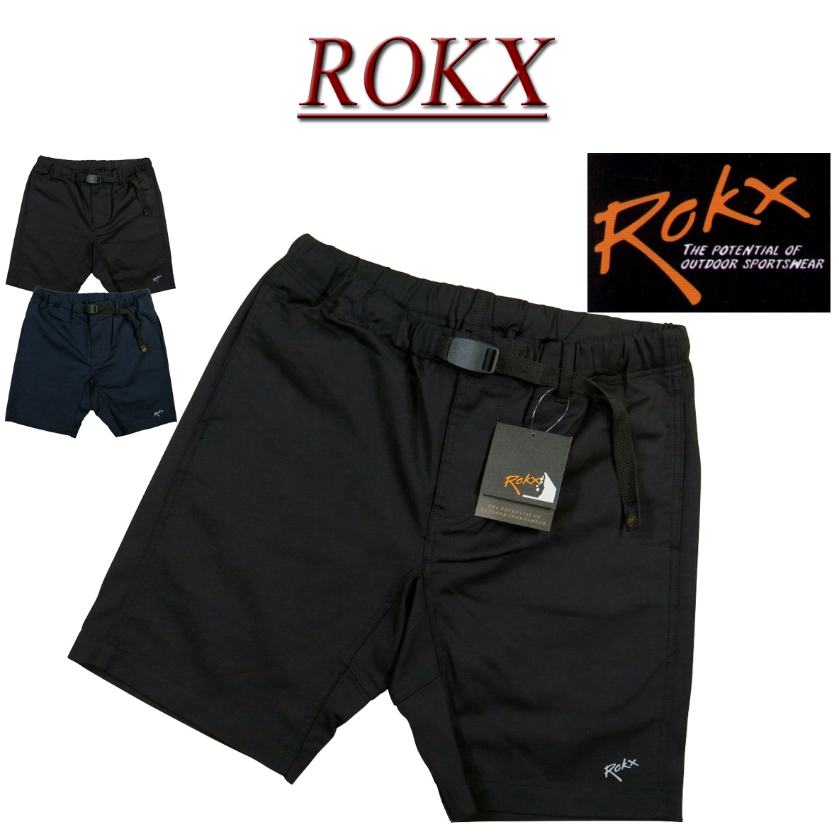 【2019春夏 2色4サイズ】 ry421 新品 ROKX ロックス LIGHT TREK SHORT ライトトレック ショートパンツ クライミングパンツ RXMS193014 メンズ アメカジ ボルダリング ハーフパンツ ショーツ 【smtb-kd】