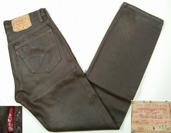 lgp537 w30 李维斯 Levis 501 皮革加工粗斜纹棉布牛仔裤美国美国衣服