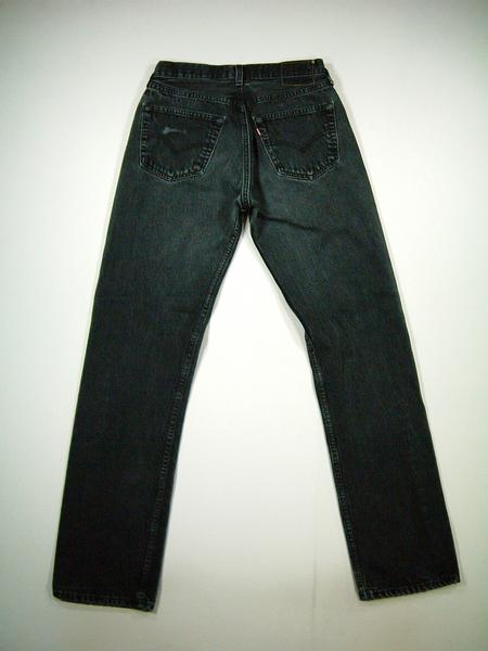 501 lgp358 w31 Levis Levis black denim jeans old clothes from US