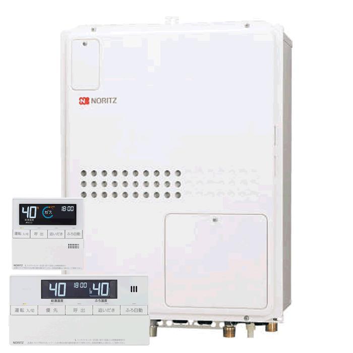 【送料無料】ノーリツ(Noritz)GTH-2445AWX3H-H-1 BLとRC-J112マルチのセット ガス温水暖房付給湯器 24号 フルオートタイプ PS扉内設置型 従来型