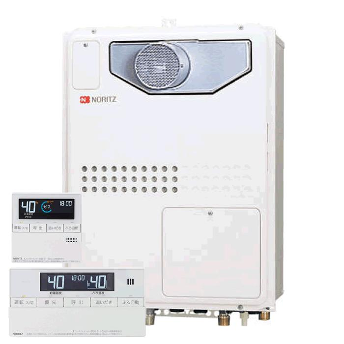 【送料無料】ノーリツ(Noritz)GTH-2445SAWX3H-T-1 BLとRC-J112マルチのセット ガス温水暖房付給湯器 24号 オートタイプ PS扉内設置型 従来型